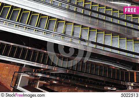 Free Layers Of Escalators Stock Photos - 5022513