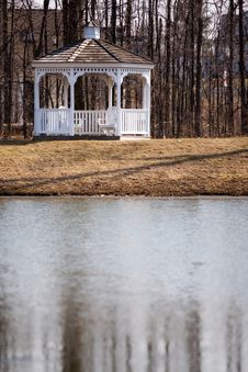 Free Gazebo Before The Leaves Royalty Free Stock Images - 5020209