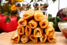 Free Chicken Taquitos Royalty Free Stock Image - 5020476
