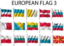 Free Flag European Stock Photography - 5020942