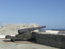 Old Cannon In The Point Castle Royalty Free Stock Photography