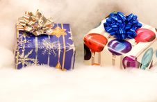 Free Two Colorful Christmas Presents Stock Photos - 5021313