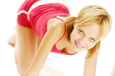 Free Exercising Girl Stock Photos - 5021493