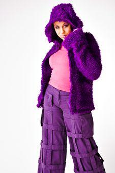 Free Fashion In Purple Stock Image - 5021501
