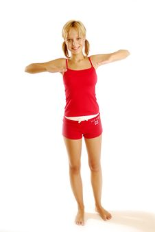 Free Exercising Girl Stock Photography - 5021502