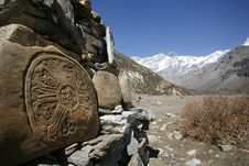 Tibetan Mani Prayer Stones, Annapurna Royalty Free Stock Image