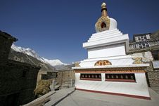 Buddist Monastery, Annapurna Stock Photo
