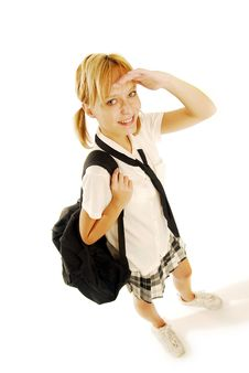 Free Girl In A School Uniform Royalty Free Stock Photography - 5021817