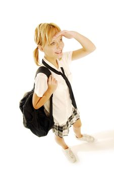 Free Girl In A School Uniform Royalty Free Stock Images - 5021839