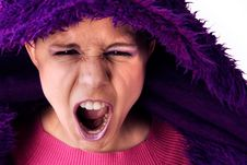 Free Agressive Screaming Woman Royalty Free Stock Photo - 5023085