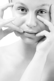 Free Natural Black And White Face Stock Image - 5023101
