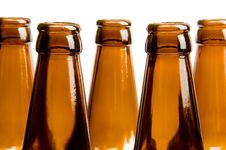 Free Close-up Of Two Row Of Beer Bottles Stock Photos - 5024443