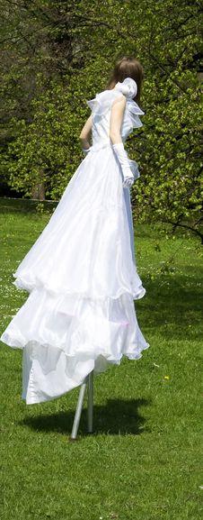 Free White Woman On Stilt Royalty Free Stock Images - 5024489
