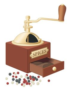 Free Retro Style Spices Grinder Royalty Free Stock Photo - 5024895