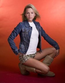 Free Teenage Fashion Model Stock Photos - 5025643