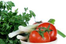 Free Fresh Tomato, Onions, Parsley Stock Photo - 5025930
