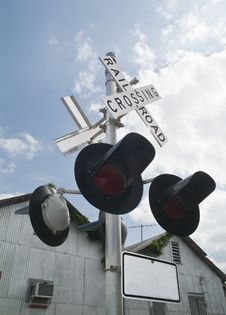 Free Railroad Crossing Signs Stock Photography - 5026432