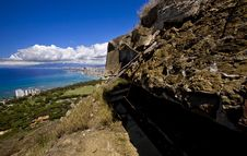 Free On The Top Of Diamond Head Royalty Free Stock Image - 5026636