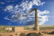 Free Black Smoke Tower Stock Image - 5028131