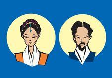 Free Portrait Series - Tibetan Couple Stock Photos - 5028383