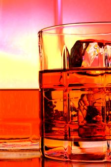Whiskey Bottle And Glass Abstract Royalty Free Stock Image