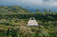 Free Camping In The Tetons Royalty Free Stock Images - 5028609