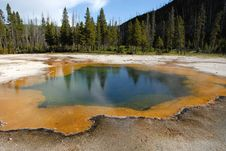 Yellowstone Thermal Pool Stock Image