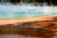 Yellowstone Thermal Pool Stock Photo