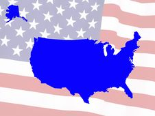 Free Usa Map Stock Photography - 5028772