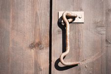 Free Old Door Lock Stock Photography - 5028962