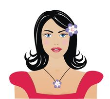 Free Portrait Of The Vector Girl. Royalty Free Stock Images - 5029179