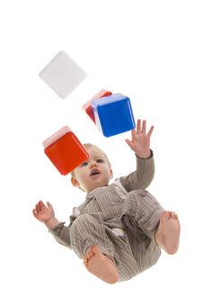 Free Toddler Playing With Blocks Royalty Free Stock Photos - 5029368