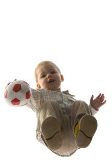 Free Baby Boy Holding Ball Stock Photo - 5029420
