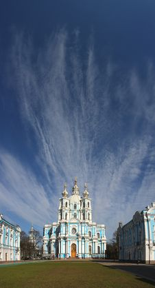 View Of The Smolny Cathedral Royalty Free Stock Photo