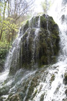 Free Waterfall And Moss Stock Photography - 5029612