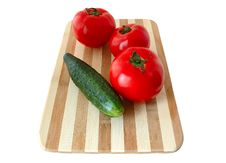 Vegetables On Cutting Board. Stock Images