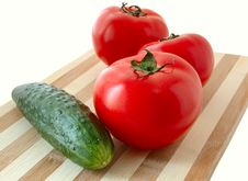 Vegetables On Cutting Board. Royalty Free Stock Photo