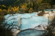China Huanglong Calcification Pool Of Sichuan Royalty Free Stock Images