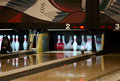 Free Bowling Pins Falling From Ball Royalty Free Stock Images - 5035979