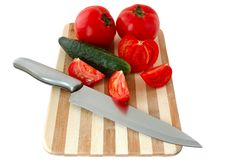 Free Vegetables On Cutting Board. Royalty Free Stock Photos - 5030228