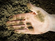 Free Dirty Hand. Royalty Free Stock Image - 5031706