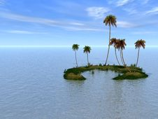 Free Palm Island Royalty Free Stock Image - 5031956