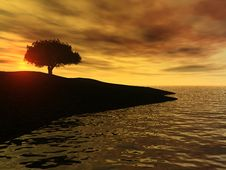 Sunrise By The Ocean Royalty Free Stock Photography
