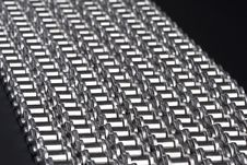 Metal Link Chains Stock Photo