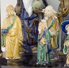 Grp Mudman China Figurine Sq Royalty Free Stock Image