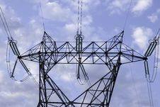 Free Long Distance Power Line Royalty Free Stock Photos - 5033648