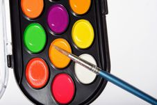 Free Palette Of The Watercolor Paints Stock Photos - 5033733