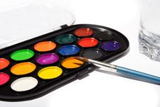Free Palette Of The Watercolor Paints Royalty Free Stock Images - 5033769