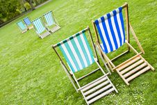 Free Vacant Deck Chairs Stock Image - 5033801