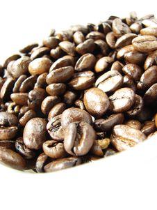Free Natural Black Coffee Beans Closeup Royalty Free Stock Image - 5033876